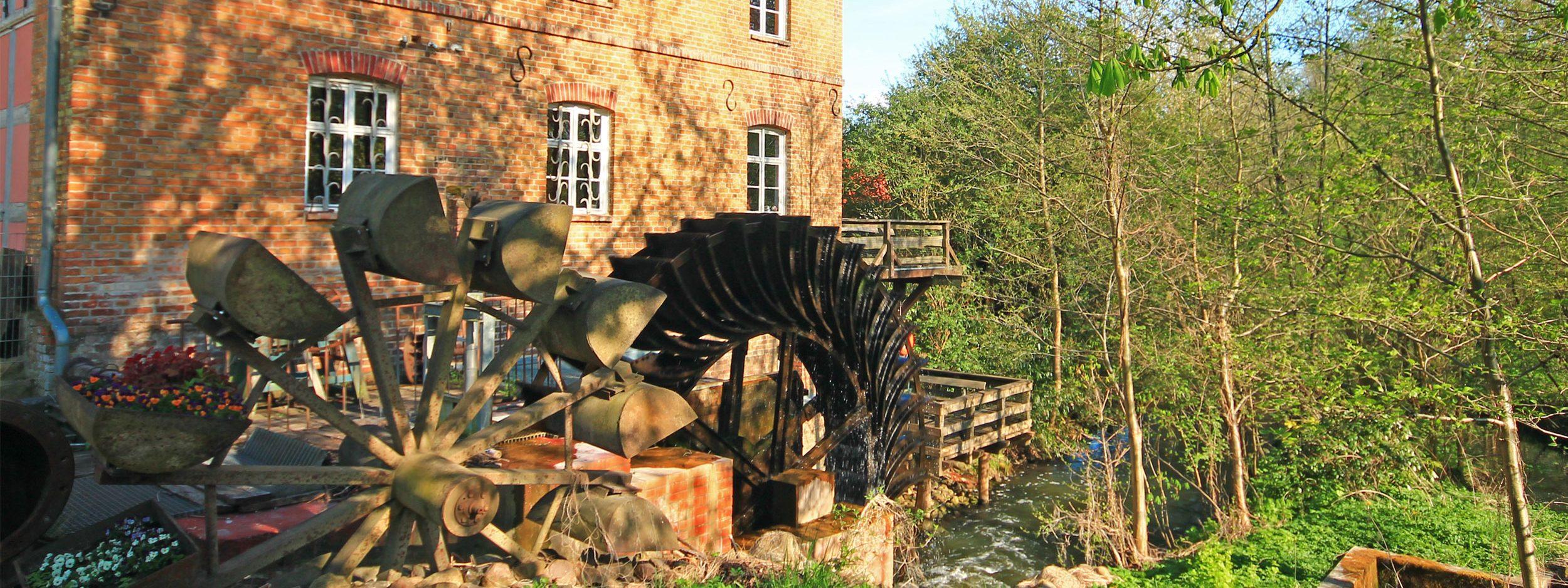 Wassermühle Gollmitz Mühlenrad