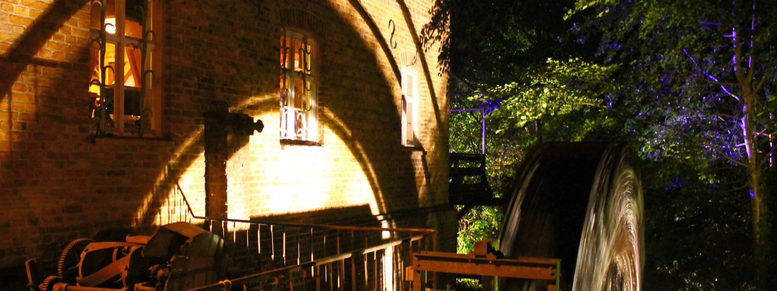 Wassermühle Gollmitz Wasserrad