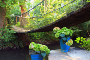 Hängebrücke zum Biwakplatz